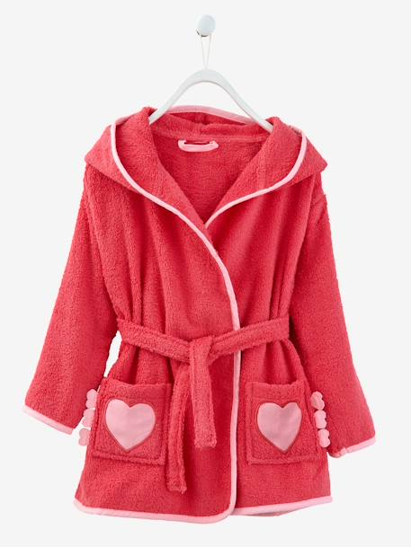 Fun Bathrobe Green+Grenadine - vertbaudet enfant