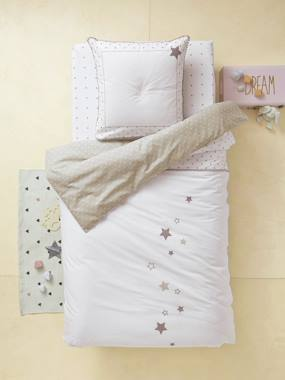 household linen-Duvet Cover & Pillowcase Set, Star Shower Theme