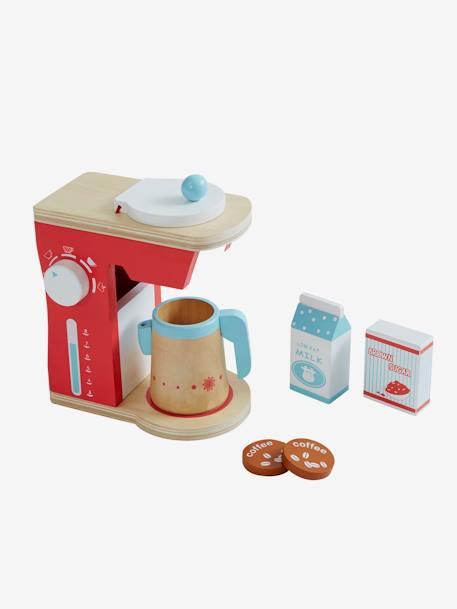 Wooden Coffee Machine set Muticolour - vertbaudet enfant