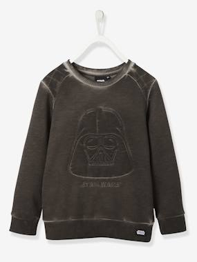 Licence-Garçon-Sweat-shirt garçon Star Wars® Dark Vador brodé