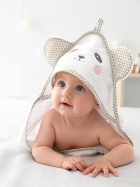 Bedding-Bathing-Bath Capes-Baby Hooded Bath Cape With Embroidered Animals