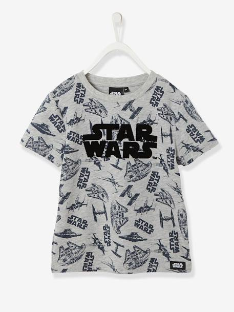 Boys' Star Wars® T-Shirt GREY LIGHT ALL OVER PRINTED - vertbaudet enfant