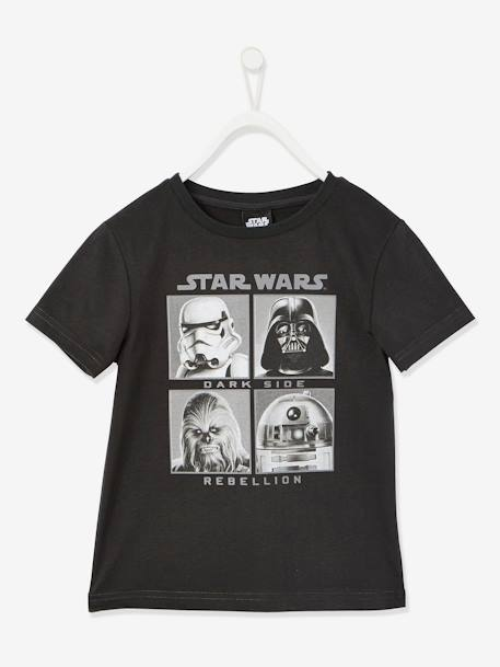 Boys' Star Wars® T-Shirt BLACK DARK SOLID WITH DESIGN - vertbaudet enfant