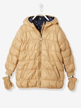 christmas-Girls' Reversible Padded Jacket