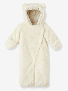 Coat & Jacket-Newborn Faux Fur Convertible Snowsuit