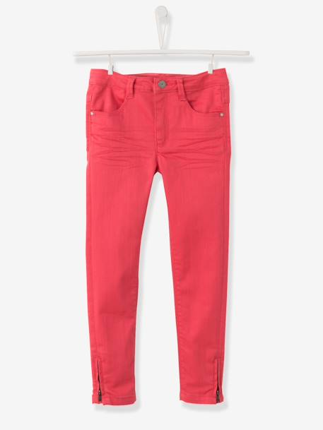 Pantalon skinny fille tour de hanches LARGE NOIR+ROSE - vertbaudet enfant