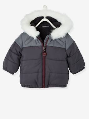 Baby-Outerwear-Coats-Boys' Hooded & Lined Padded Jacket
