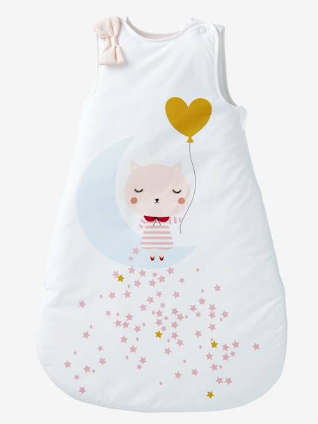 Sleeveless Sleep Bag, Moonlight Theme WHITE LIGHT SOLID WITH DESIGN - vertbaudet enfant