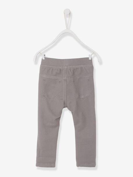 Baby Girls' Treggings Denim brut+GREEN DARK SOLID+Grey+PINK LIGHT SOLID - vertbaudet enfant