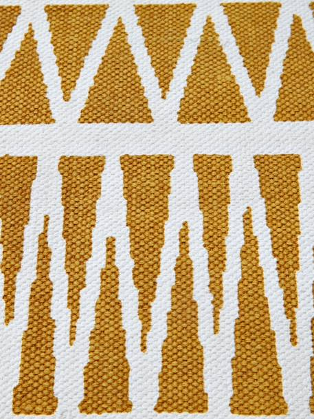 Graphic Rug YELLOW MEDIUM ALL OVER PRINTED - vertbaudet enfant