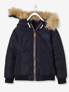 Vertbaudet Sale-Boys' Padded Jacket with Polar Fleece Lining