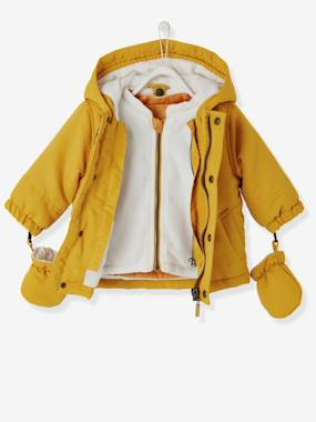 Megashop-Baby-Baby Boys' 3-in-1 Adaptable Parka