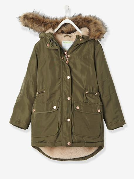 Girls' Parka with Plush Lining, Girl
