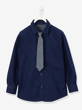 Vertbaudet Collection-Boys' Shirt with Tie