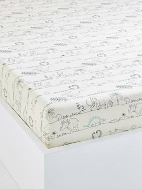 Vertbaudet Sale-Bedding-Children's Fitted Sheet, Dinorama Theme