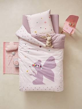 Vertbaudet Sale-Bedding-Children's Duvet Cover & Pillowcase Set, Tiny Fairy Theme