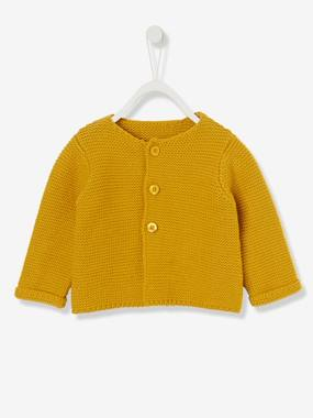 Baby fashion selection-Baby's Garter Stitch Knit Cardigan