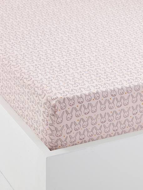 Baby Fitted Sheet, Magic Theme PINK LIGHT ALL OVER PRINTED - vertbaudet enfant