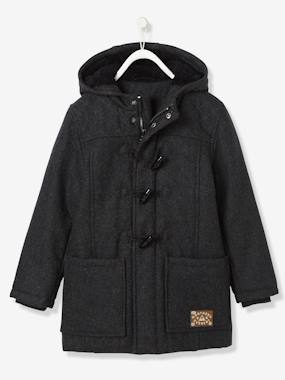 Little Trappeur-Boys' Duffle-Coat with Fleece Lining