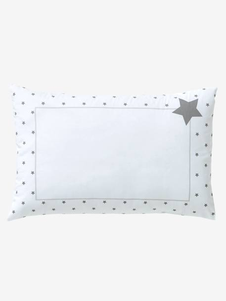 Baby Pillowcase, Star Shower Theme WHITE LIGHT SOLID WITH DESIGN - vertbaudet enfant