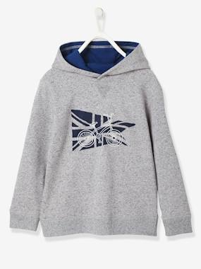 Vertbaudet Sale-Boys-Cardigans, Jumpers & Sweatshirts-Boys' Hooded Sweatshirt