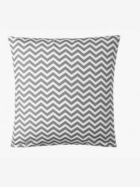 Children's Duvet Cover & Pillowcase Set, Chevron/Triangles BLUE LIGHT ALL OVER PRINTED+GREY MEDIUM  ALL OVER PRINTED+YELLOW MEDIUM ALL OVER PRINTED - vertbaudet enfant