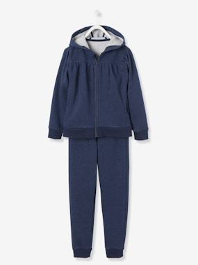 Girls-Tops-T-Shirts-Girls' Zip-Up Sweatshirt & Joggers Set