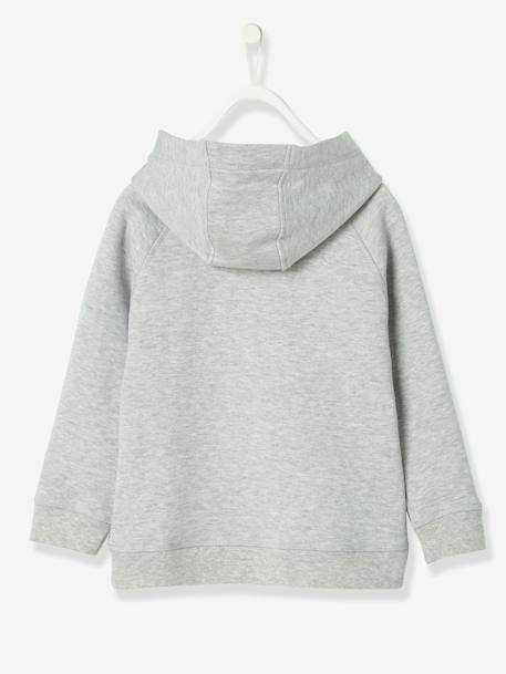 Boys' Hooded Sweatshirt GREY LIGHT MIXED COLOR - vertbaudet enfant