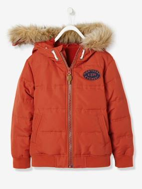 Vertbaudet Sale-Boys-Boys' Padded Jacket with Polar Fleece Lining