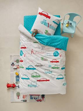 Bedding-Child's Bedding-Duvet Covers-Duvet Cover & Pillowcase Set, Fun Cars Theme