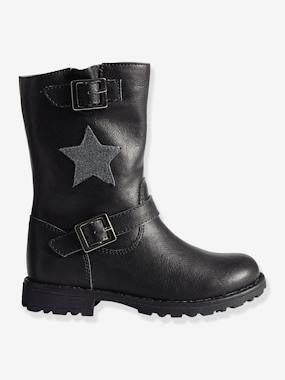 Megashop-Shoes-Girls Footwear-Girls' Biker-Style Boots