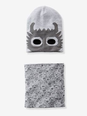 Boy-Accessories -Boys' Superhero Print Beanie & Snood