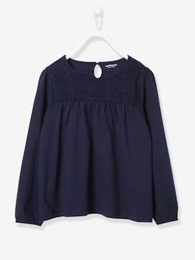 fille-london-Girls' T-Shirt with Lace Panels