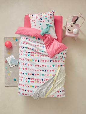Bedroom-Child's bedding-Duvet Cover & Pillowcase, Hearts Theme