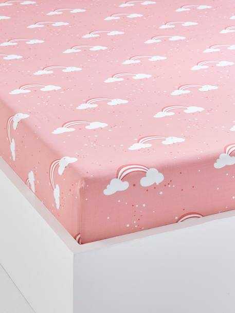 drap housse vertbaudet Children's Fitted Sheet, Unicorn Theme   pink light all over  drap housse vertbaudet