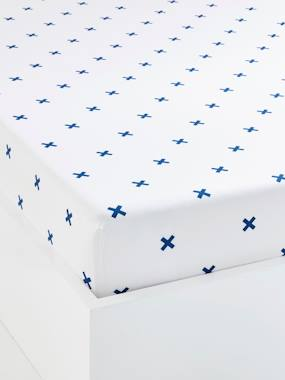 white-Children's Fitted Sheet, Tiny Pirate Theme