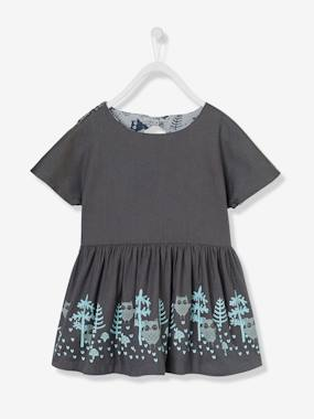 Girl-Dress-Girls' Reversible Twill Dress