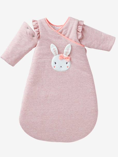 Wrap-Over Fleece Sleep Bag with Removable Sleeves, Magic Theme PINK LIGHT SOLID WITH DESIGN - vertbaudet enfant