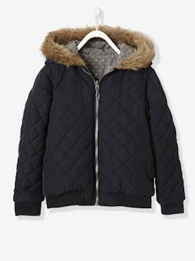 Girl-Coat, jacket-Girls' Reversible Bomber-Style Padded Jacket