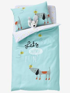 Bedroom-Baby's bedding-Baby Duvet Cover, Bee Happy Theme