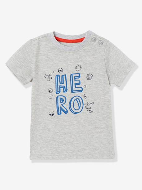 Pack of 2 Baby Boys' Long-Sleeved T-Shirts with Decorative Motifs BLUE DARK TWO COLOR/MULTICOL - vertbaudet enfant
