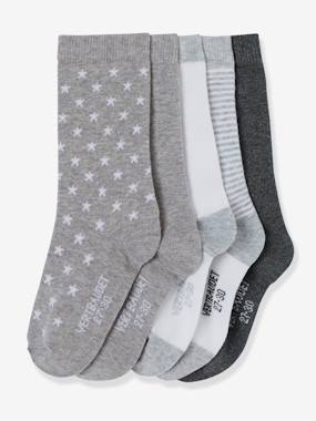 Happy Price collection-Girls' Pack of 5 Pairs of Ankle Socks