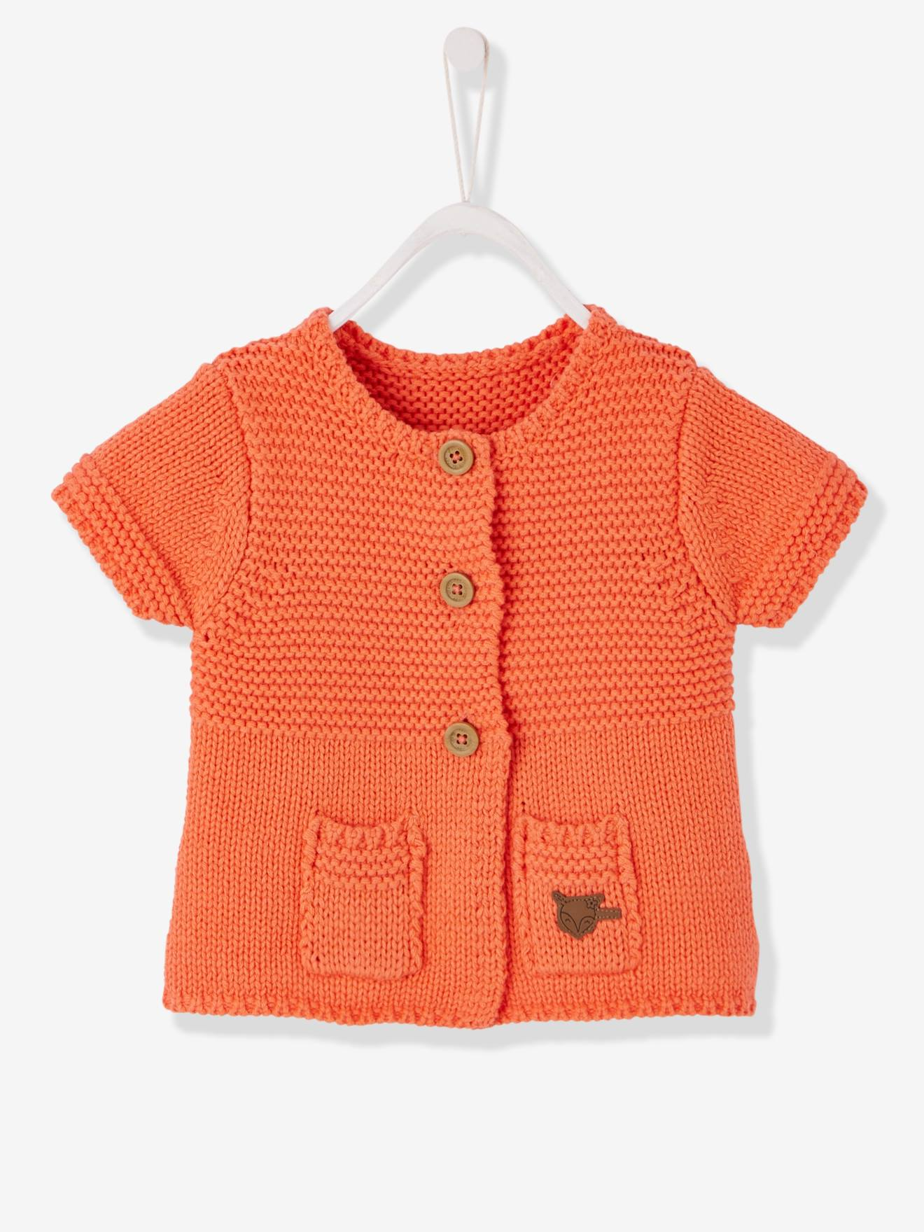 Baby Girls' Cardigan with Diversified Stitching, Baby