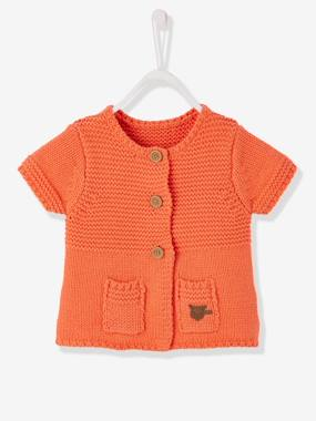 Baby-Knitwear, cardigan, sweatshirt-Baby Girls' Cardigan with Diversified Stitching