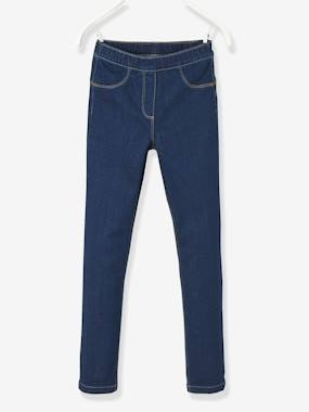 Vertbaudet - Trousers girls boys and babys-Girls' Denim Treggings