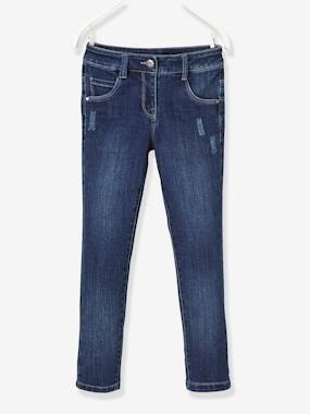Girls-Jeans-WIDE Fit - Girls' Stretch Denim Trousers