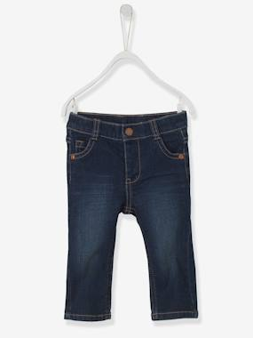 Vertbaudet - Trousers girls boys and babys-Baby Boys' Straight-Cut Jeans