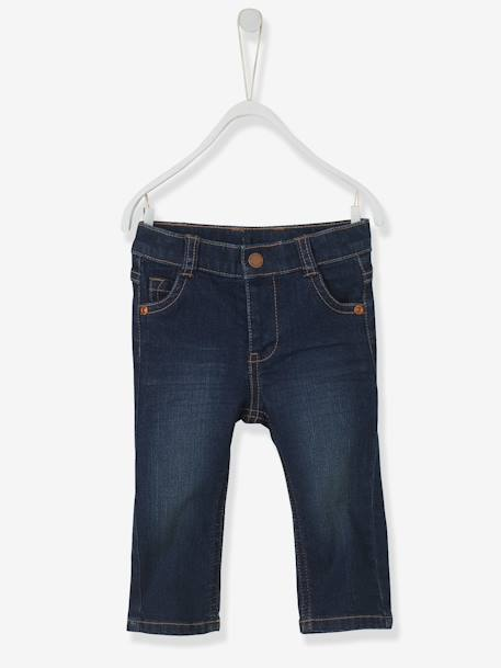 Baby Boys' Straight-Cut Jeans Denim brut - vertbaudet enfant