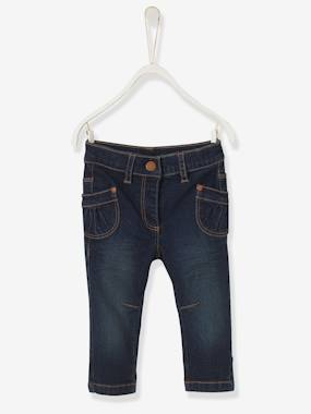 Baby-Trousers & Jeans-Baby Girls' Straight Fit Jeans