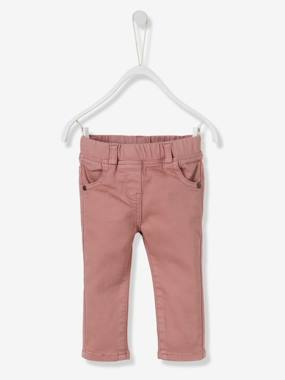 Vertbaudet - Trousers girls boys and babys-Baby Girls' Slim Fit Trousers